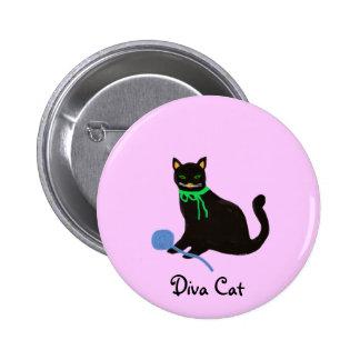 Playful Cat 2 Inch Round Button