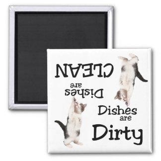 Playful Cat Lovers Dishwasher Magnet