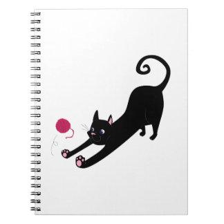 Playful Cat Spiral Note Book