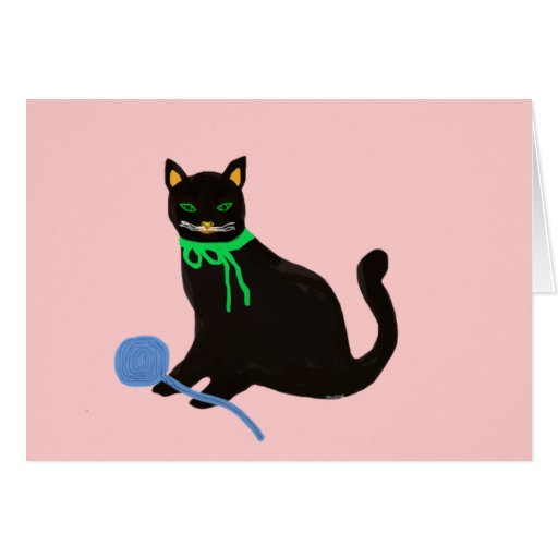 Playful Cat Stationery Note Card