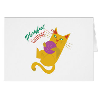 Playful Catitude Greeting Card