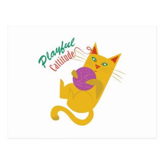 Playful Catitude Postcard