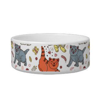 Playful Cats Pattern Pet Bowl
