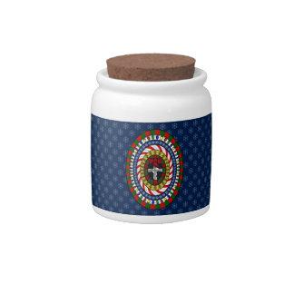 Playful Christmas Candy Jar