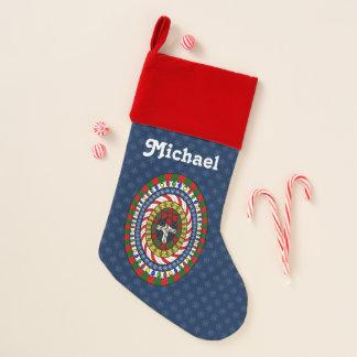 Playful Christmas Velvet Lined Stocking