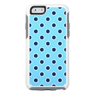 Playful Dark Blue Polka Dots on Light Blue