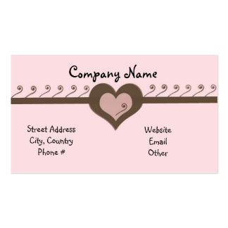 Playful Design Chocolate and Pink Business Card