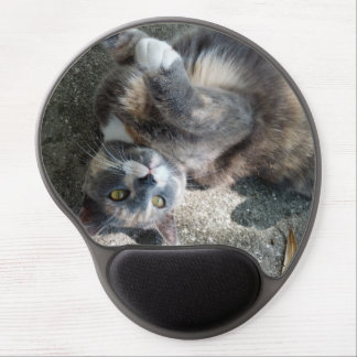 Playful Dilute Tortoiseshell Cat Gel Mouse Mats