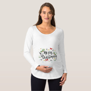 playful ditsy merry christmas maternity dress - Christmas Maternity Dress