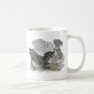 Playful Doberman Pinscher Puppies Coffee Mug