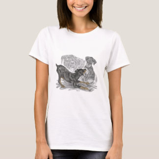 Playful Doberman Pinscher Puppies T-Shirt
