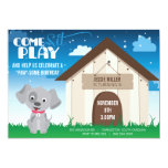 "Playful Dog or Puppy Birthday Party Invitation 5"" X 7"" Invitation Card"