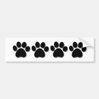 Playful Dog Paw Print for Dog Lover BLACK PAW C01 Bumper Sticker