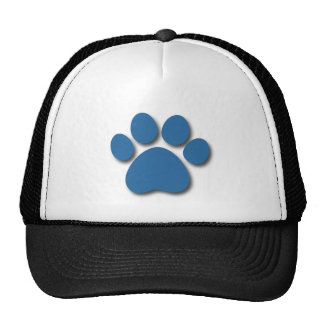 Playful Dog Paw Print for Dog Lover FRENCH BLUE Trucker Hat