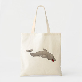 Playful Dolphin Tote Bag