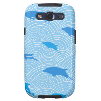 Playful dolphines pattern galaxy s3 cover