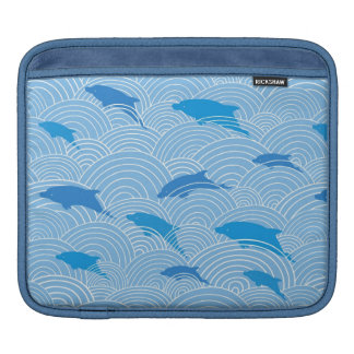 Playful dolphines pattern sleeves for iPads