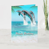 PLAYFUL DOLPHINS All Occasion or Birthday Card