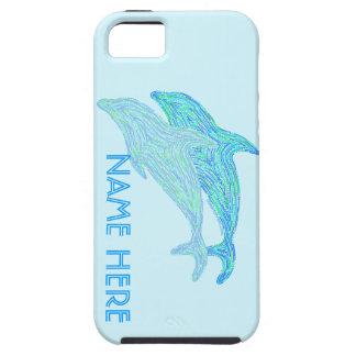 Playful Dolphins Blue Aquatic Art Ocean Theme iPhone SE/5/5s Case