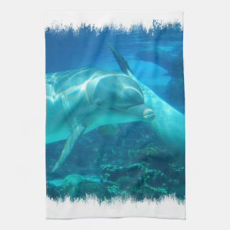 Playful Dolphins Kitchen Towel