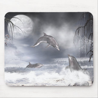 Playful dolphins mouse pad