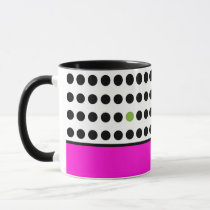 Playful Dots Coffee Mug in Fucshia