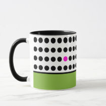 Playful Dots Coffee Mug in Green