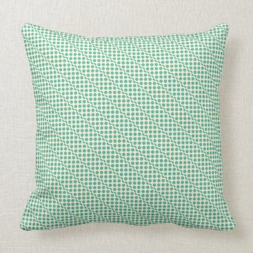 Beach Themed Playful dots mint green on cream throw pillow