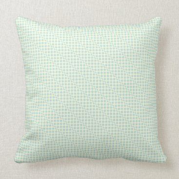 Beach Themed Playful dots pastel blue on cream throw pillow