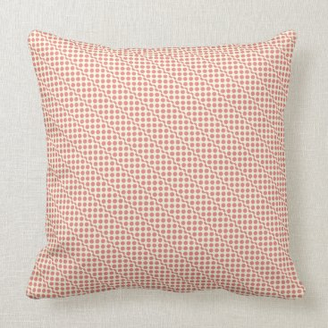 Beach Themed Playful dots pink red on cream throw pillow