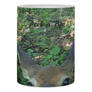 Playful Fawn Deer Wrapped LED Candle