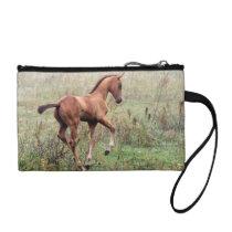 Playful foal coin purse