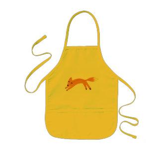 Playful fox kids' apron