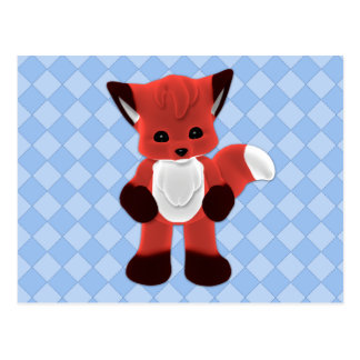 Playful Fox Plushie Postcard