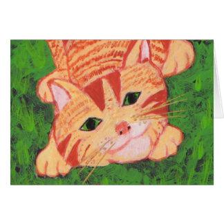 Playful Ginger Kitten Card