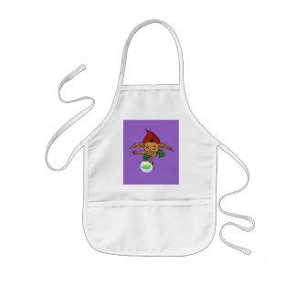 playful goblin kids' apron