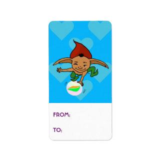 Playful goblin label