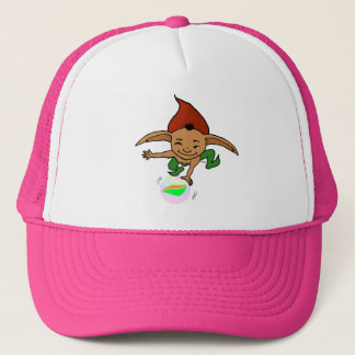 playful goblin trucker hat
