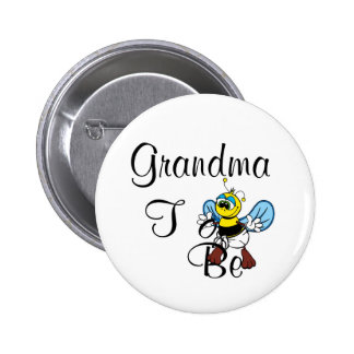 Playful Grandma To Be Button