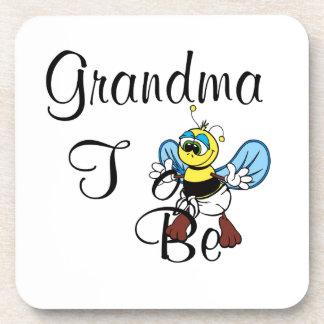 Playful Grandma To Be Coasters
