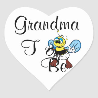 Playful Grandma To Be Heart Sticker