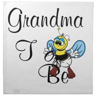 Playful Grandma To Be Napkin