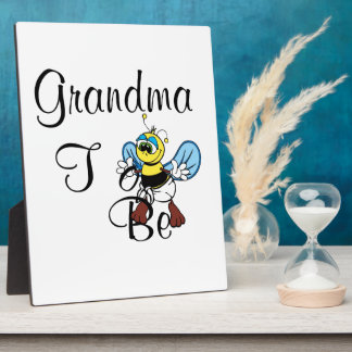 Playful Grandma To Be Plaque