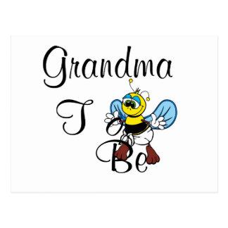 Playful Grandma To Be Postcard
