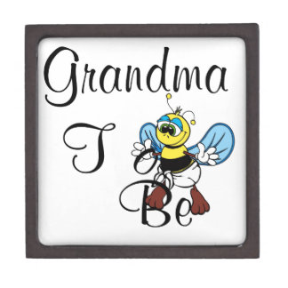 Playful Grandma To Be Premium Trinket Box