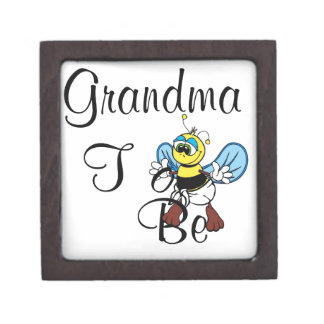 Playful Grandma To Be Premium Trinket Boxes