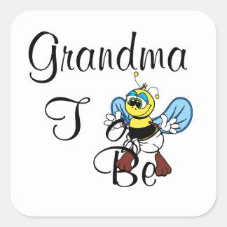 Playful Grandma To Be Square Sticker