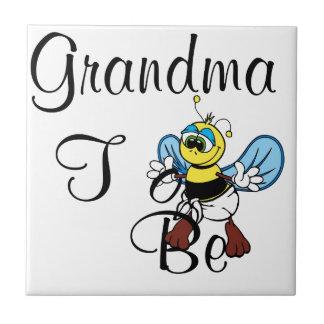 Playful Grandma To Be Tile