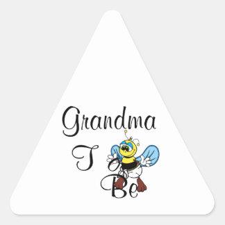 Playful Grandma To Be Triangle Sticker