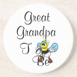 Playful Great Grandpa To Be Coaster